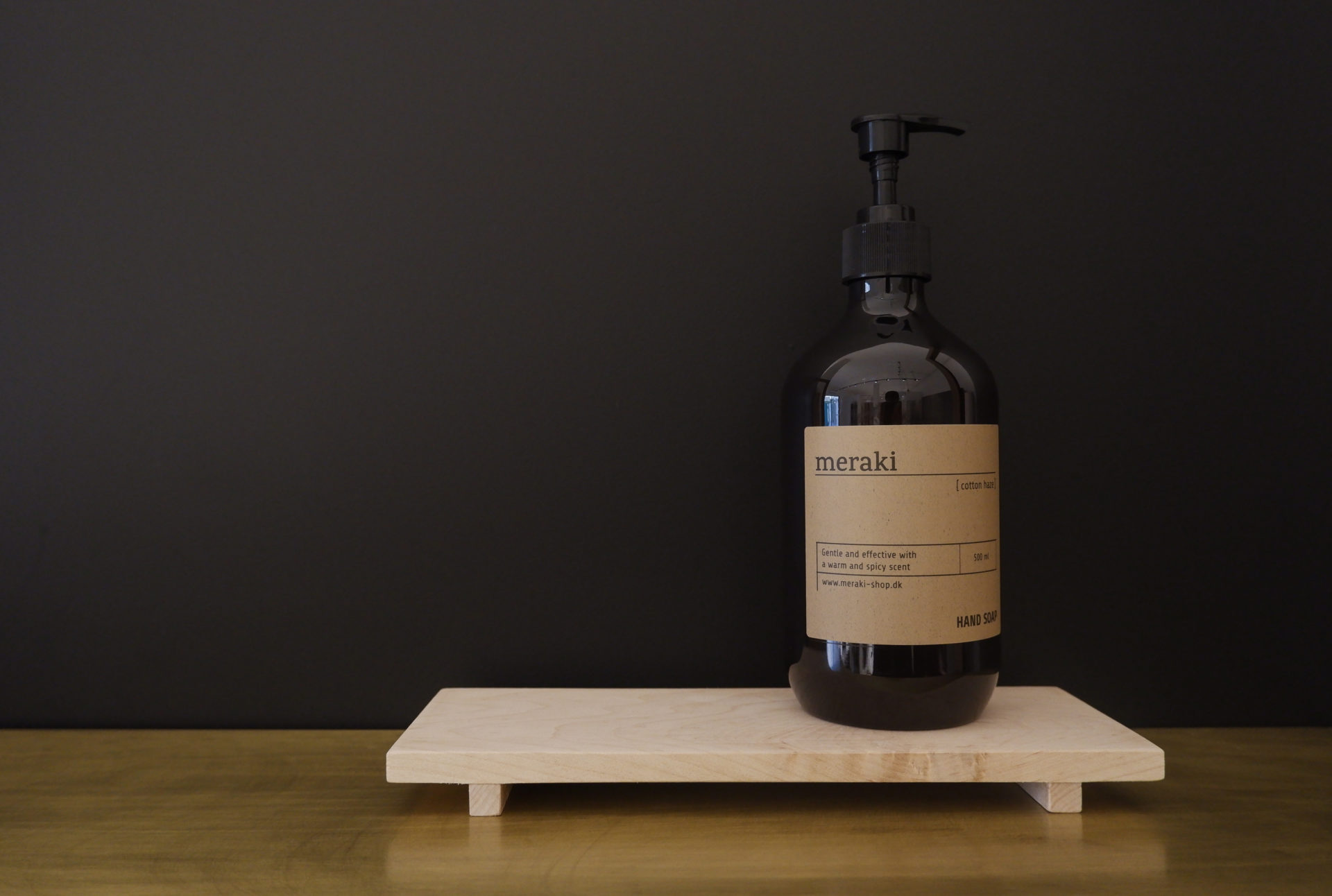 Essential 03- soap holder maple kitchen accessories by KITMO