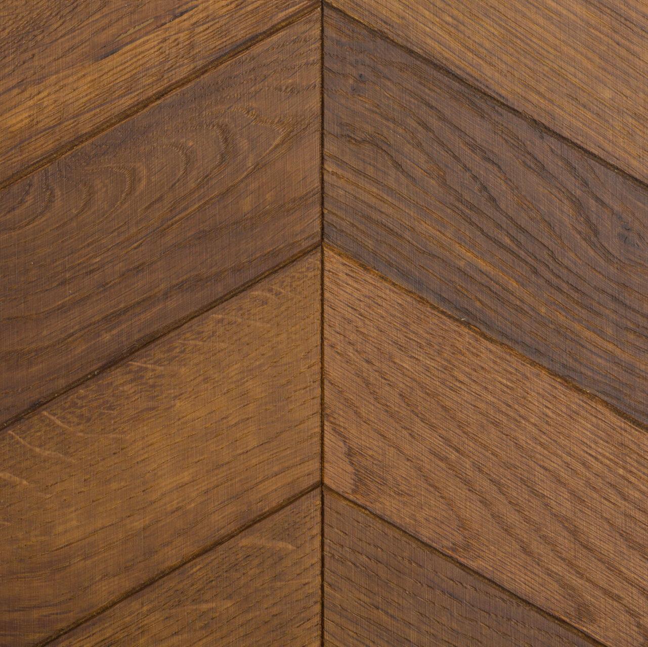 Wood Parquet Flooring - Golden Oak Chevron