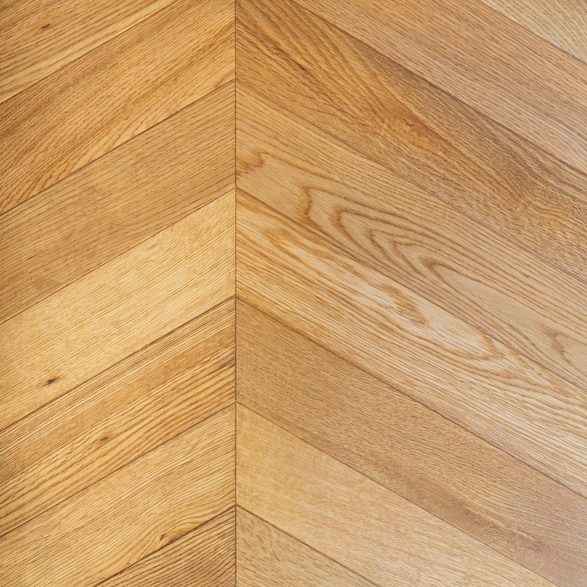 Wood Parquet Flooring - Natural Oak Chevron