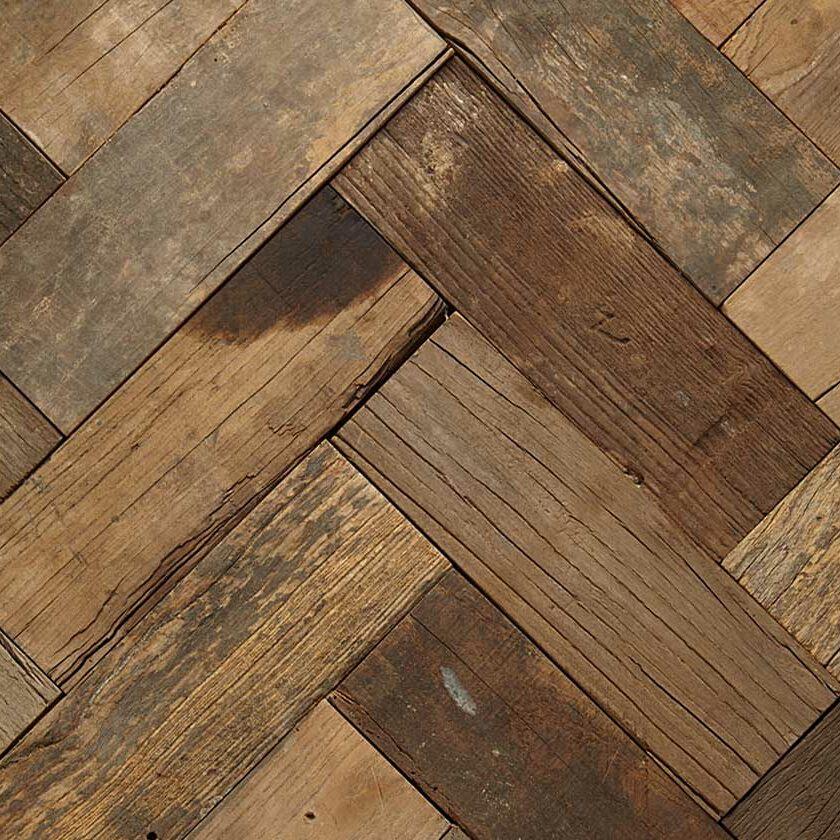 Wood Parquet Flooring - reclaimed ELM