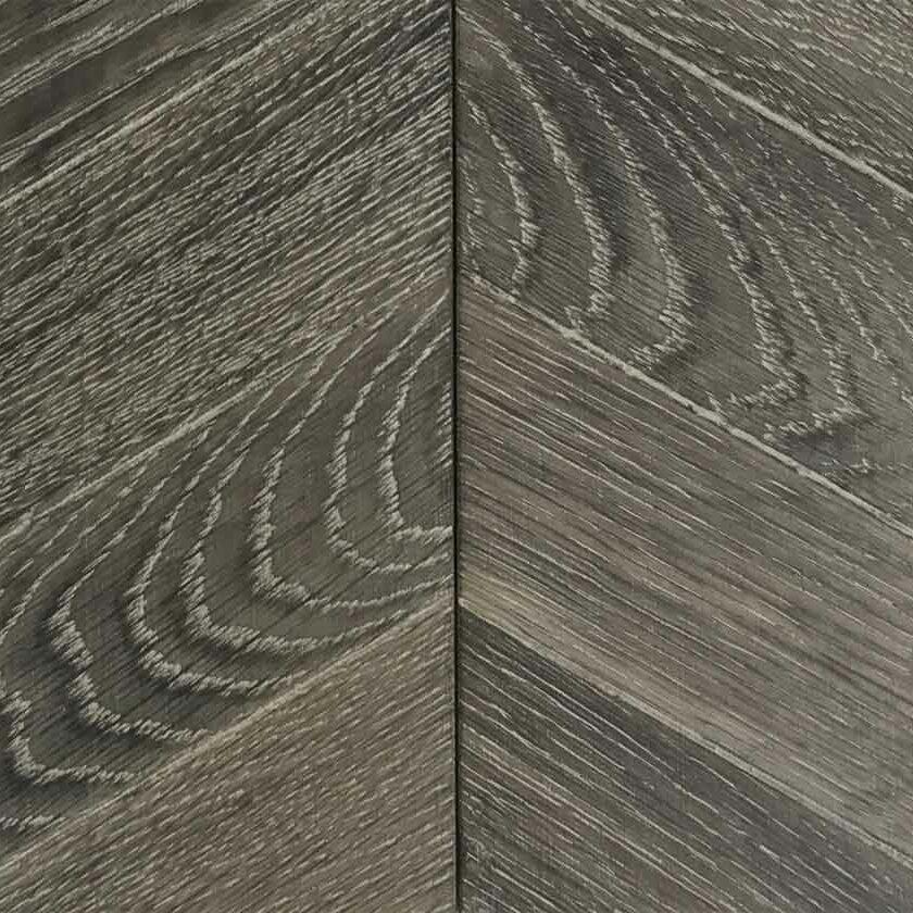 Wood Parquet Flooring - Rust Grey Chevron