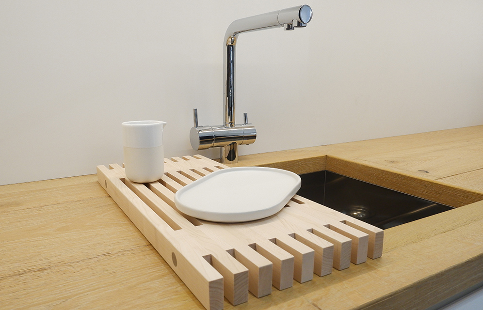 Essential 02- over the sink rack maple kitchen accessories by KITMO