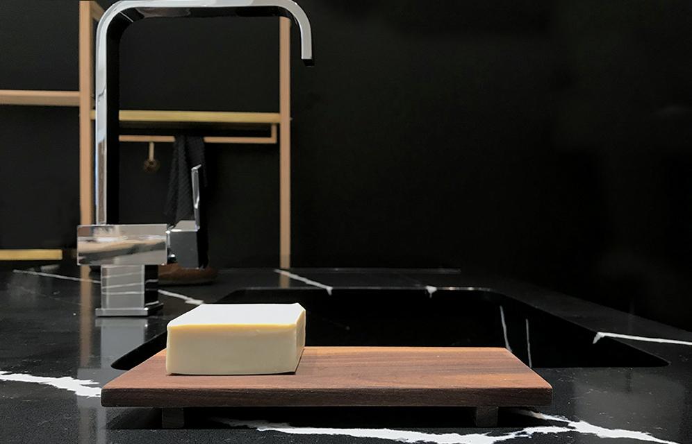 Essential 03- soap holder walnut kitchen accessories by KITMO