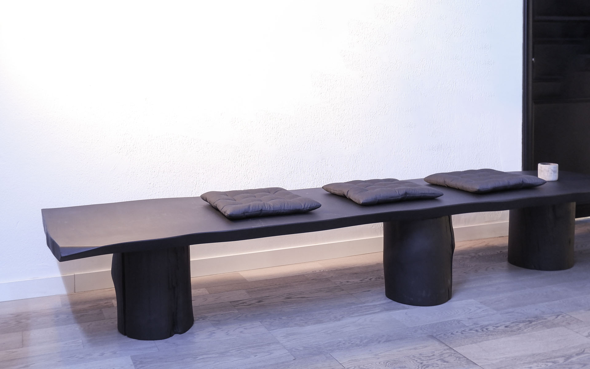 cloud trunk bench african wood