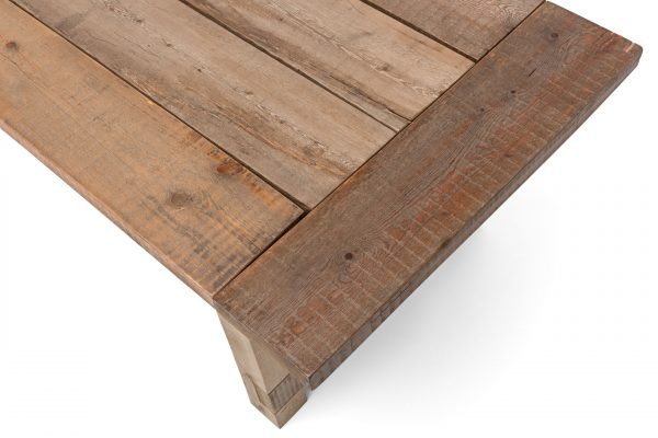 Textured aged pine table