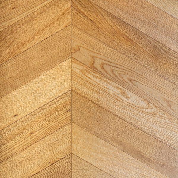 Wood Parquet Flooring - Natural Oak Chevron